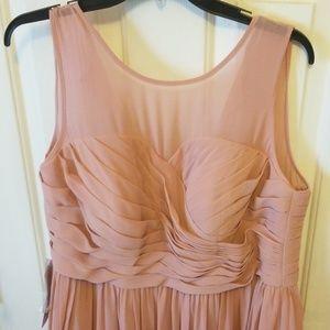 Azazie Nina Dusty Rose Maxi Dress